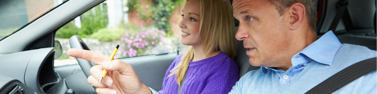 Adi training to become a qualified driving instructor
